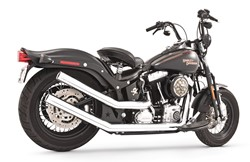 Bild von FREEDOM EG/ABE UPSWEEPS WITH STAR END CAPS 2 in 2 / CHROM / SOFTAIL EG/ABE E3